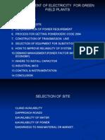 Management of electic plant