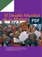 El Desafio Mundial de La Alfabetizacion