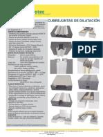 CUBREJUNTAS DE DILATACIÓN