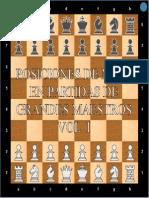Posiciones de Mate (en 1) de Partidas de Grandes Maestros. Vol. I