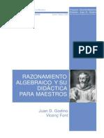 Razonamiento Algebraico y Su Didactica Para Maestros