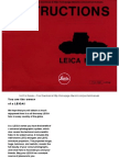 Leica m4p User Manual user guide, instructions for use
