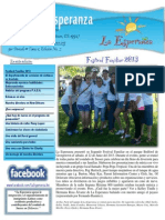 La Esperanza 3rd Quarter Newsletter SPANISH