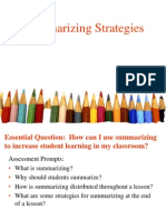 summarizing strategies for induction