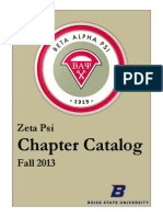BAP Fall 2013 Chapter Catalog