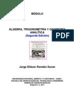 Modulo Algebra Trigonometria y Geometria Analitica 2011