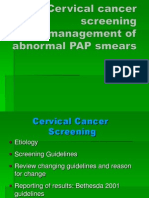 Cervical Cancer Screening and Management of Abnormal PAP Smears-1