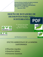 DISEÑO DE BOTADERO DE DESMONTES PARA MINA SUBTERRANEA
