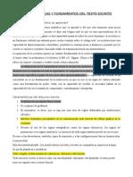 Características y fundamentos del discurso escrito