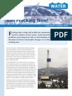 Ban Fracking Now