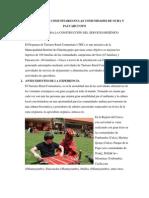 Turismo Rural Comunitario Criterios de construcción