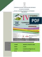 IV Foro Tacna 2029