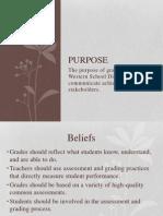 elementary grading presentation for web site