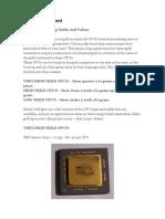 CPU Gold Content