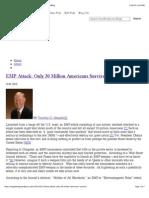 EMF - EMP Attack Only 30 Million Americans Survive - Unknown