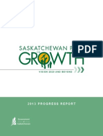 One-Year Progress Report on the Saskatchewan Plan for Growth