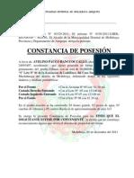 MODELO DE CONSTANCIA DE POSESIÓN