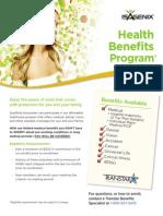 IsaGenix Healthcare Benefits Flyer