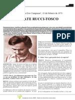 Debate Rucchi - Tosco 1973