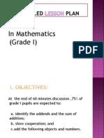 Semi Detailed Lesson Plan in Mathematics (Grade