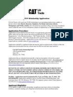 2014 External Scholarship Application -FINAL