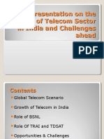 A Presentation on the Growth of Telecom Sector in India and Challenges Ahead