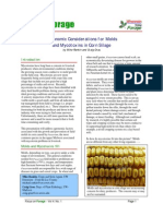 Agronomic Considerations for Molds and Mycotoxins in Corn Silage