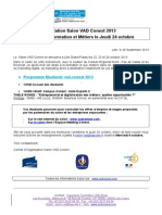 Invitation Salon VAD Conext 2013 - Après midi Formation et Métiers - Jeudi 24 Octobre - 13h30