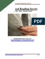 Speed Reading Report