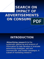 A Research on the Impact of Advertisements on Consumers