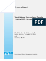 World+Water+Demand+and+Supply,1990+to+2025