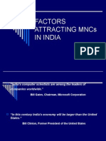 Factors Affecting MNC in INDIA