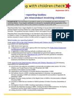Reporting Certain Misconduct Involving Children SEPTEMBER