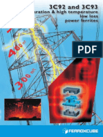 3C92 & 3C93 - The High Saturation & High Temperature Low Loss Power Ferrites