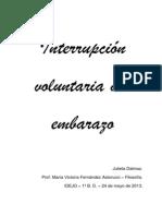 Interrupción voluntaria del embarazo - Julieta Dalmao 4to
