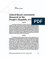 School-Based Assessment in China