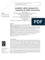 A Parabolic Cable Element For