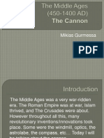 the middle ages the cannon