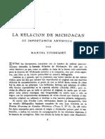 La relación de Michoacán su importancia artística