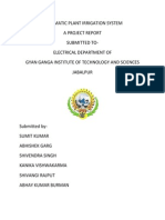Automatic Plant Irrigation System Report