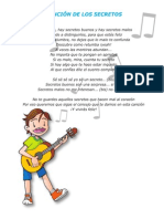 Letra de Cancion de Los Secretos-Para Imprimir