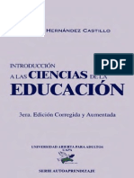 Angel Hernandez Castillo - Introduccion a Las Ciencias de La Educacion