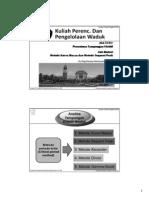 Kuliah PP Waduk-Kurva Massa Dan Sequent Peak (Ke-5)