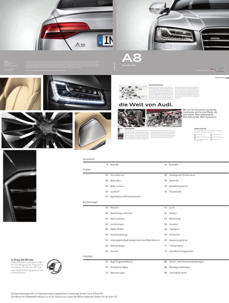 Audi A8 Catalogue Germany 2014