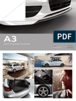 Audi A3 Original Zubehor Accessories Catalogue for 3-door, Sportback & Sedan (Germany, 2014)