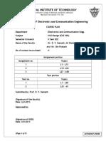 Course Plan VLSI Design July 2013