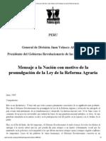 Perú_ Discurso del Gen