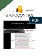 Lista de Precios Distribuidor GRUPO CONTROL MARZO 2013