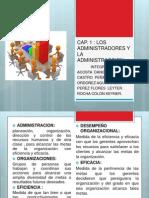 Diapositivas Cap 1 Procesos Administrativos Exposicion