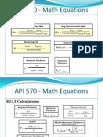 API 570 - List of Math Equations